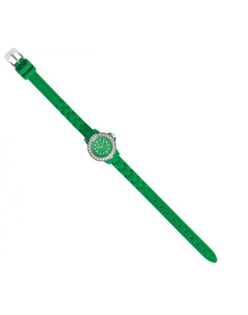 Orologio donna solo tempo strass e silicone verde - Ottaviani Watch - SALDI