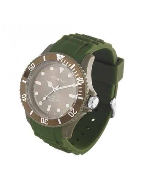 Orologio uomo solo tempo silicone verde militare - Ottaviani Watch - SALDI
