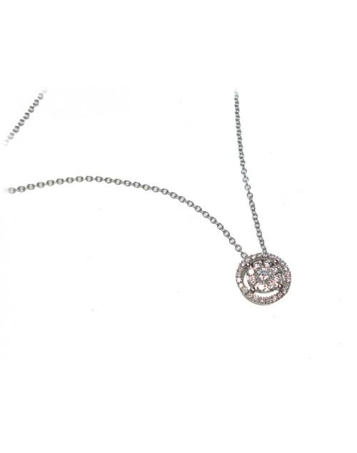 Collana donna oro bianco con diamanti - Cicalese Gioielli Valenza Made in Italy