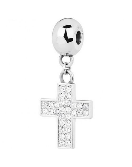 Charm donna Tres Jolie Mini acciaio con cristalli Croce - BrosWay