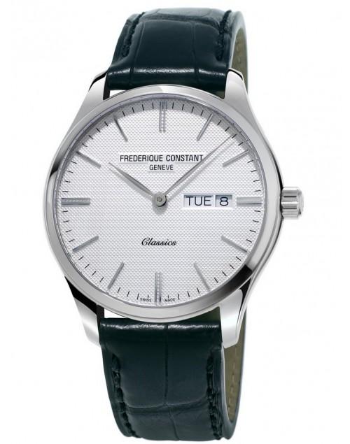 Orologio uomo solo tempo Frederique Constant Classic Quartz bianco - Quarzo Swiss Made