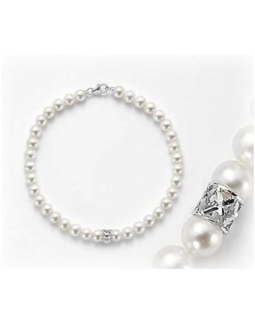 Bracciale Perle 4,5/5 oro bianco con intermezzi - Nihama