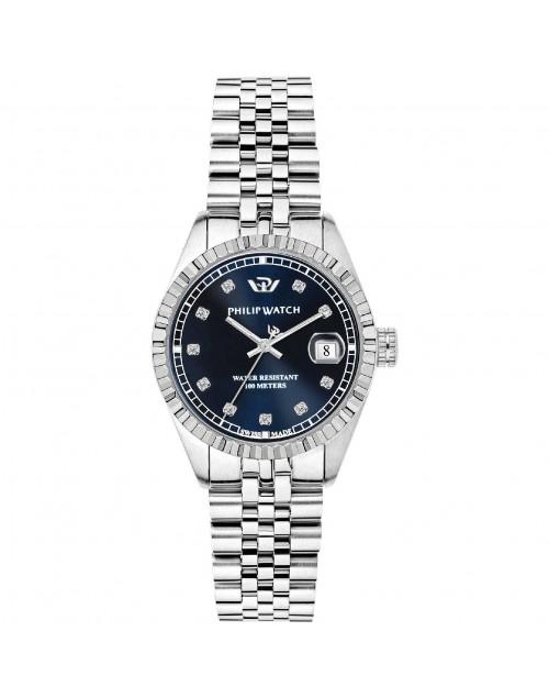 Orologio donna Solo tempo Philip Watch Caribe Lady quarzo diamond blue