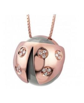Collana oro rosa con diamanti - Collezione Coccinelle - Salvini