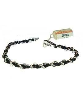 Bracciale argento black unisex - Molecole - OUTLET € 25,00