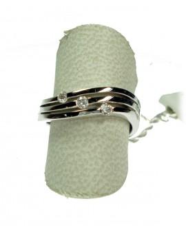 Anello donna oro bianco con diamanti ct. 0,16 Misura 16 - Cicalese 1898 gioielleria Made in Italy - OUTLET € 599,00