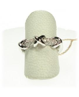 Anello donna oro bianco con diamanti ct. 0,18 Misura 14 - Cicalese 1898 gioielleria Made in Italy - OUTLET € 549,00