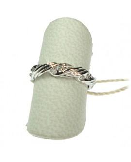 Anello donna oro bianco con diamanti ct. 0,20 Misura 10,5 - Cicalese 1898 gioielleria Made in Italy - OUTLET € 399,00