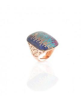 Anello donna Pavè argento Sogni gioielli con zirconi multicolor 16