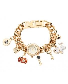 Orologio bracciale donna solo tempo gold con charms - Ottaviani Watch