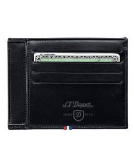 Porta carte di credito e documento new Ligne D pelle black - S.T.Dupont