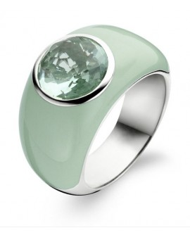 Anello argento e pietra verde - Ti Sento Milano - OUTLET € 45,00