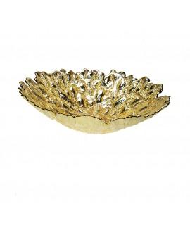 Centrotavola Argenesi Moss argento gold edition cm. 39,5