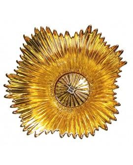 Centrotavola Argenesi Coppa Venezia vetro e argento gold edition cm. 20