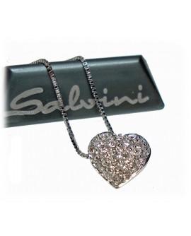 Collana pendente Cuore Concept Love oro bianco con diamanti - Salvini