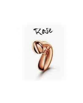 Anello unisex Vis d'Amour Argento rosè con diamante misura 13 - Bliss - OUTLET € 49,00