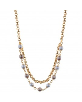 Collana donna bronzo Bliss Gossip perle shell