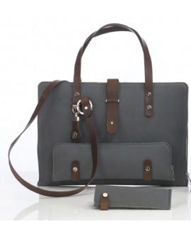 "Briefcase E' Office Laptop 15"" grigio Borsa Unisex cm. 40x29x4 - Argenesi"