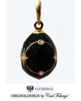 Pendente Uovo argento, smalto e oro 24 Carati - Alfaberge original design by Carl Fabergè
