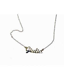 """Collana donna con nome oro giallo """"Giulia"""" - Facco gioielli"""