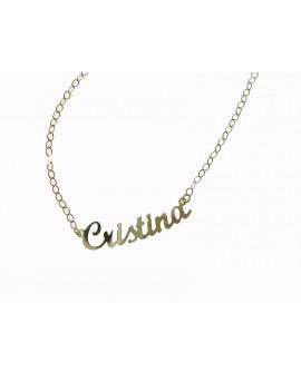 """Collana donna con nome oro giallo """"Cristina"""" - Facco gioielli"""
