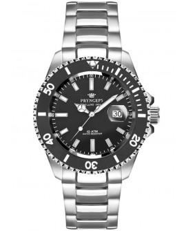 Orologio solo tempo uomo Pryngeps  Milano 1956 Sub Professional Mediterraneo 100 MT black