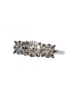 Anello oro bianco e diamanti misura 15 - Cicalese Gioielli Valenza Made in Italy