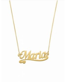 Collana personalizzata con nome Mi Racconto argento gold - Spedizione in 7 gg. lavorativi