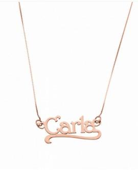 Collana personalizzata con nome Mi Racconto argento rose gold - Spedizione in 7 gg. lavorativi