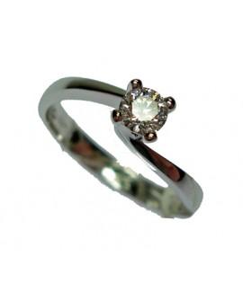 Anello solitario oro bianco e diamanti misura 13 - Cicalese Gioielli Valenza Made in Italy