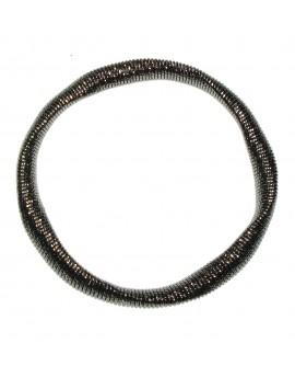 Bracciale donna bronzo elastico silver black - Giodè i preziosi