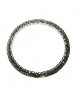 Bracciale donna bronzo elastico silver - Giodè i preziosi