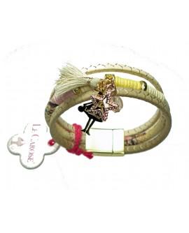 Bracciale donna Boho Chic tre giri con charms - Le Carose - Toco d'encanto gioielli