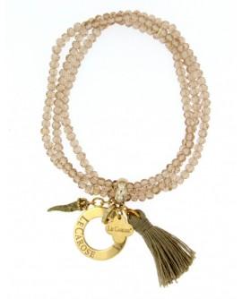 Bracciale donna elastico con charms Gols Stone beige - Le Carose - Toco d'encanto gioielli - SALDI