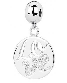 Charm donna Tres Jolie Mini acciaio con cristalli Love - BrosWay