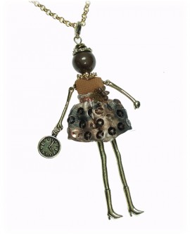 Collana donna bronzo gold Bambola - Le Carose - Toco d'encanto gioielli