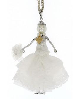 Collana donna bronzo  Bambola La Sposa - Le Carose - Toco d'encanto gioielli - SALDI