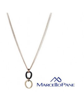 Collana argento rose gold Rubber collection - Marcello Pane