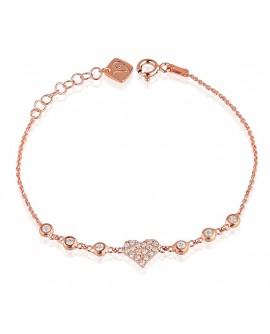 Bracciale donna Vanessa's Joy Glitter in argento 925 rosè
