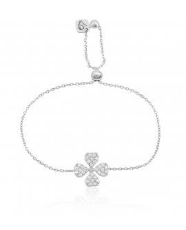Bracciale donna Vanessa's Joy Must Have quadrifoglio in argento 925