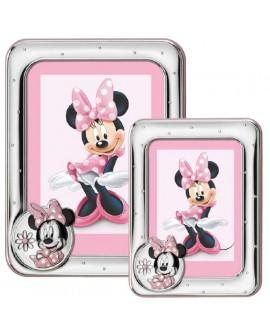 Portafoto bimbi Disney Rosa Minnie 13x18 - Mida argenti