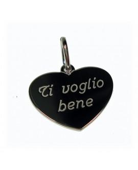 """Pendente cuore """"Ti Voglio Bene""""  in argento - My Jewels"""