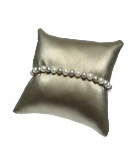 Bracciale Perle 5/5,5 oro bianco multicolor grigio - Nihama