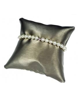 Bracciale Perle 5/5,5 con sfere e gancio piccolo oro bianco - Nihama