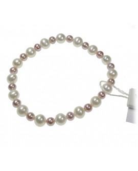 Bracciale molla Perle 5/7 bianco/multicolor - Nihama