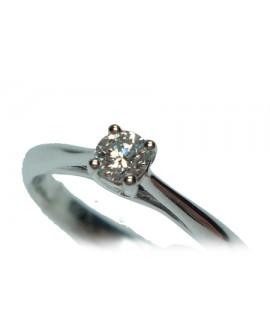 Anello Solitario oro bianco con diamante misura 13 - Cicalese Gioielli Valenza Made in Italy