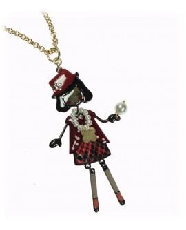 Collana donna Bambola ottone e bronzo gold - Le Carose The Flappers - Toco d'encanto gioielli