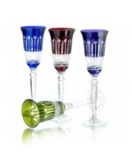 Coppia Flutes Cristallo 150ml blue - Maison Tatiana Fabergè