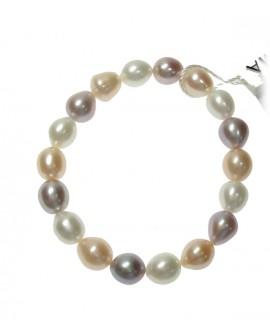 Bracciale molla Perle Ovali 8,5/9,5 multicolor - Nihama