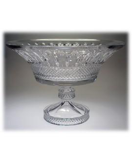Centrotavola Alzata Cristallo Boemia bianco cm. 28 - Maison Tatiana Fabergè